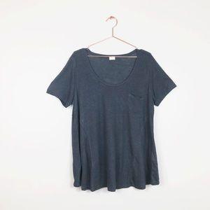 NEW Poetry Linen Scoop Neck Pocket T Shirt